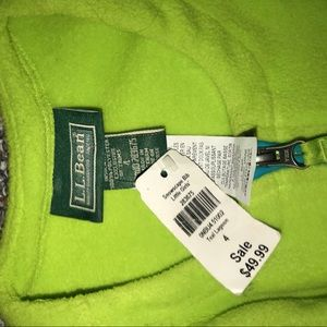 L.L.Bean kids Snowsuit Size 4 New Tags Green/Blue